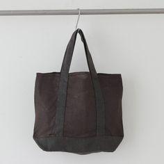 Crick & Watson - Chocolate Herringbone Jeanine Bag Fog Linen, Linen Bag, Herringbone, Totes, Tote Bag, Chocolate, Bags, Handbags, Chocolates