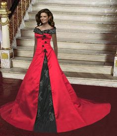 red wedding gowns for large women   Black and Red Wedding Dresses Design