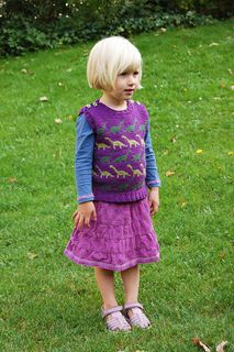 Knitting pattern: Vestosaurus - an adorable vest for boys and girls - kids knitting design by Signe Strømgaard