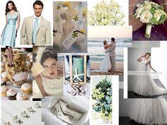 racine beach wedding : PANTONE WEDDING Styleboard : The Dessy Group