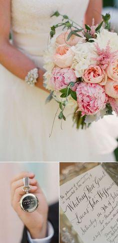 Bruidsboeket met pioenrozen