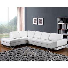 Aesis Leather Sectional Sofa