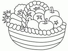 Mewarnai Gambar Ayam Jago A Basket Of Fruits Colouring Pages Page