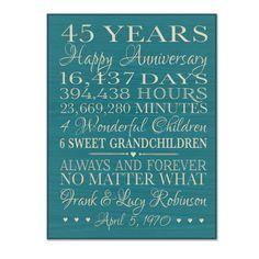 12 best 45th anniversary images on pinterest wedding anniversary