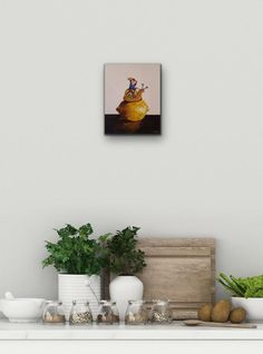Grace Kotze: The Allure Of Citrus: fine art   StateoftheART South African Artists, The Allure, Canvas Size, Floating Shelves, Original Artwork, Fine Art, Contemporary, Painting, Home Decor