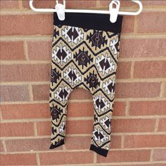 Comfy White Black Brown Unisex Leggings and by LittleIvieRose