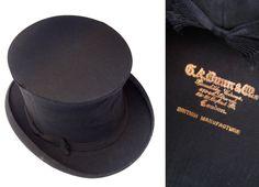 17e2b05039f Antique GA Dunn  amp  Co Collapsible Top Hat - Dapper Steampunk Victorian  Wedding Groom Men s
