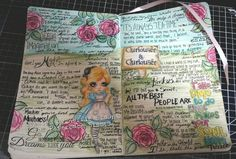 My Design Team make for the Anything Goes challenge over at @paperbabe xx more details over on my Blog xx http://kerrie-kraftyfilofax-girl.blogspot.co.uk/2016/07/mayleedee-in-wonderland-for-paperbabe.html