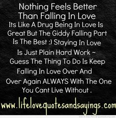 Real Feelings Quotes About Being In Love for him Love Is To Receive A Glimpse of Heaven Being In Love Quotes About Falling In Love Nothing feels Falling In Love Poems, Love Poems For Him, Falling Quotes, Facebook Quotes, For Facebook, Feel Good Quotes, Happy Quotes, Favorite Quotes, Best Quotes