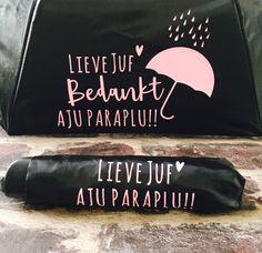 Aju Paraplu Juf   Bedankjes voor de JUF & MEESTER   Prullekes Spullekes Decor, Packaging, Decoration, Decorating, Deco