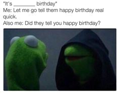 Evil Kermit meme. lol