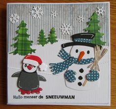Maria's kaartjes Christmas Cards, Christmas Tree, Christmas Ornaments, Marianne Design, Animal Cards, Snowmen, Handmade Christmas, Poster, Scrap