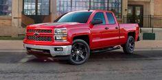 2015 red Chevrolet Silverado 1500 truck