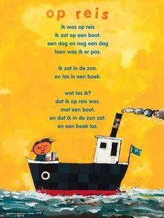 Aan de muur - S A L E P o ë z i e p o s t e r s - poëzieposter met gedicht Op reis van Wim Hofman Learn Dutch, Poetry For Kids, Best Teacher Ever, Dutch Quotes, Travel Party, Wheel Of Fortune, Script Logo, Project, Close Reading