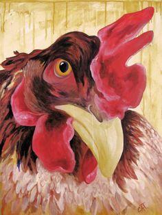 Teriyaki Chicken - Acrylic on Canvas by Carla Owen