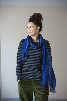 Gudrun Sjödéns Herbstkollektion 2014 - Das Basic-Streifenshirt aus Öko-Baumwolle ist ein klassisches Modell mit Rundausschnitt und langem Arm.