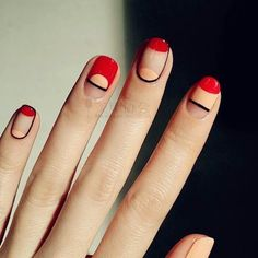Simple and modern manicure inspiration . - Simple and modern manicure inspiration More You are in the right place about pretty nails design Here we offer you the most beautiful pictures about the pretty nails Easy Nails, Cute Nails, Pretty Nails, Gorgeous Nails, Simple Nails, Nagellack Trends, Modern Nails, Nail Polish, Minimalist Nails