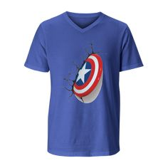 Always dreamt of being Captain America, now is your chance. Captain America, Shirt Designs, Comic Books, Comics, Mens Tops, Cotton, T Shirt, Shopping, Fashion