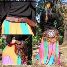 Indian Style Leather 3pocket Bag #fashion