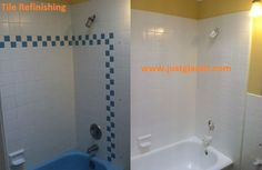 Tile Refinishing can be used on tile countertops, n.We apply exceptional techniques to refinish tiles. San Jose, Tile Reglazing, Bathroom Shower Panels, Tile Refinishing, Tile Countertops, Tile Floor, Tiles, Bathtub, Flooring