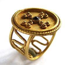 600 - 800 A.D британский нашел англо-саксонских период ас чистого золота и красный гранат кольцо