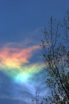 "a ""fire rainbow"" - ice-halo formed by plate-shaped ice crystals in high level cirrus clouds"