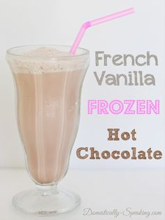 French Vanilla Frozen Hot Chocolate Recipe by wteresa French Vanilla Frozen Hot Chocolate Recipe by wteresa - Chocolade Frozen Hot Chocolate, Hot Chocolate Mix, Hot Chocolate Recipes, Frozen Desserts, Frozen Treats, French Vanilla Creamer, Raspberry Lemonade, Smoothie Drinks, Smoothies