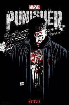 Punisher TV Show Poster 2017 on Netflix with Jon Bernthal all Bloody as Frank Castle aka the Punisher, Check out the Trailer Breakdown - DigitalEntertainmentReview.com