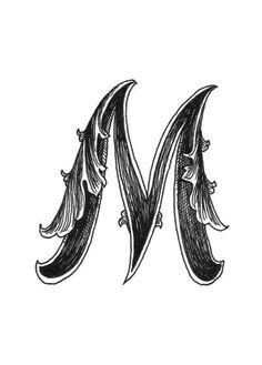Leaf Script M Art Print-SR. See More. Sam Alfano lettering