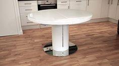 White High Gloss and 1200mm extending to 1600mm Curva Round White Gloss Extending Dining Table Danetti http://www.amazon.co.uk/dp/B00D2V15C6/ref=cm_sw_r_pi_dp_xVSkvb05452X0