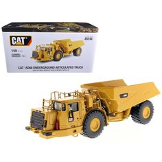 CAT Caterpillar AD60 Articulated Underground Truck with Operator High Line Series 1-50 Diecast Model by Diecast Masters
