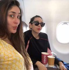 Kareena Kapoor Khan and Karisma Kapoor's pout game in on point. @pinkvilla  . . #kareenkapoorkhan #karismakapoor #veerediwedding…