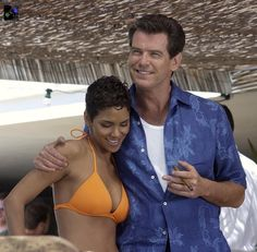 Halle Berry and Pierce Brosnan (Die Another Day - 2002)