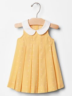 Contrast-collar dot dress Product Image