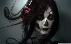 Day of the Dead. Hauntingly beautiful artwork.