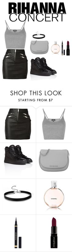 """Rihanna Concert"" by love-elee ❤ liked on Polyvore featuring Diesel, Topshop, Giuseppe Zanotti, Michael Kors, Chanel, Yves Saint Laurent and Smashbox"