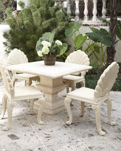 #Horchow                  #table                    #Outdoor #Structured #Table #Shell-Back #Chair      Outdoor Structured Table & Shell-Back Chair                                   http://www.seapai.com/product.aspx?PID=140681