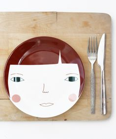 cutie lady plate