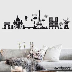 Vinilo decorativo París http://www.decohappy.com/producto/vinilo-decorativo-paris/