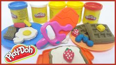 PLAY-DOH Breakfast Buffet - Learn How To make Waffles in Play Doh & Lot ...