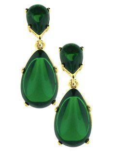 Emerald Teardrop Earrings - Dangle & Drop - Earrings