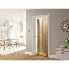Internal Ely Oak Veneer 5 Panel Door 1981 x 762 x 35mm  sc 1 st  Pinterest & With its bold design the Dordogne Oak door adds a sense of heritage ...