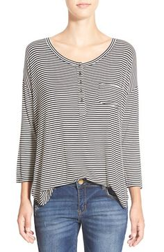BP. Stripe Henley Tee (Juniors) available at #Nordstrom