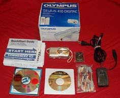 *For Parts* Olympus Stylus 410 Digital Camera w/software & access *For Parts* #Olympus