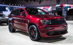 Red As Night: New 2016 Jeep Grand Cherokee SRT Night - Photo Gallery of Auto Show from Car and Driver - Car Images - Car and Driver