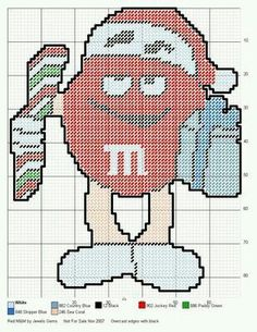 RED M&M by JEWELS GEMS -- WALL HANGING