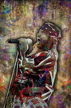 Axl Rose Print, Axl Rose Art, Axl Rose Tribute Artwork, Axl Rose Poster for Guns N' Roses Fans - Modern Axl Rose, Guns And Roses, Pink Floyd, Iron Maiden, The Beatles, A Level Art Sketchbook, Music Wall Art, Music Pics, Colorful Artwork