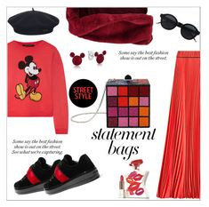 """Statement bags..."" by nihal-imsk-cam ❤ liked on Polyvore featuring Marc Jacobs, Judith Leiber, Prada, Boohoo, Bond No. 9, Element, Disney, polyvoreeditorial, polyvorecontest and statementbags"