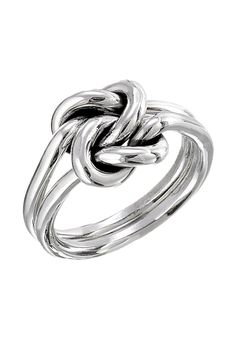 Silver Double Knot Ring.