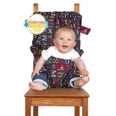 Amazon.com: Totseat Chair Harness, The Washable and Squashable, Portable Travel High Chair in Chocolate Chip: Baby